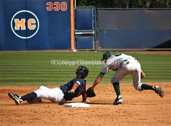 Carlos Lopez tries to avoid a tag.