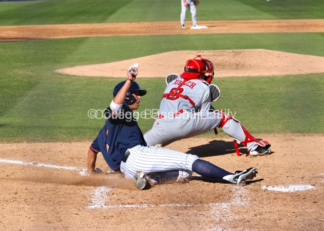 Matt Orloff slides home with a run.