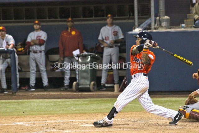 Richy Pedroza takes a swing.