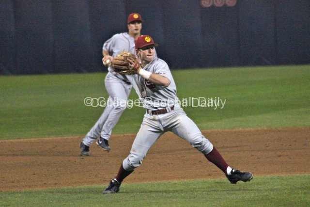Kevin Swick makes a play at third.