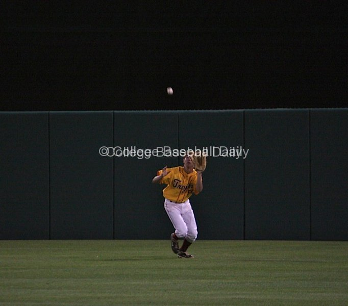 Garrett Stubbs comes in on a flyball.
