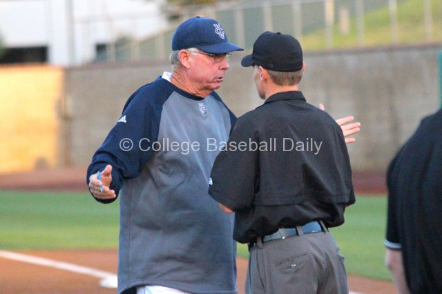 Mike Gillespie can't believe the umpire's call.