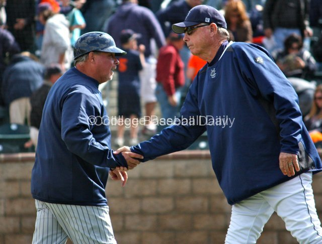 Rick Vanderhook & Mike Gillespie shake hands.