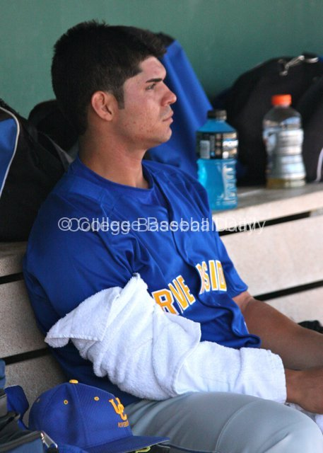 Eddie Orozco sits hoping to get some run support.
