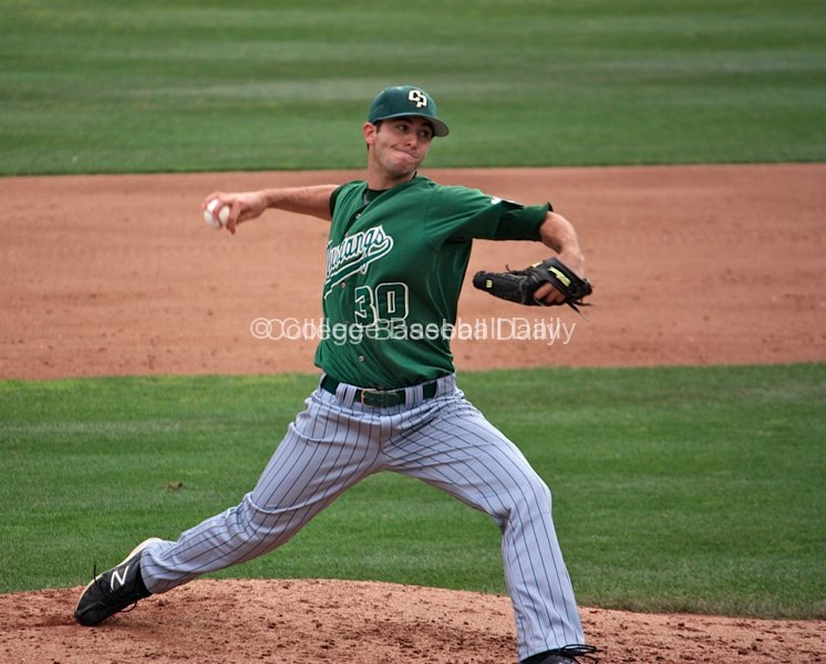 Joey Wagman allowed only three hits over seven innings.