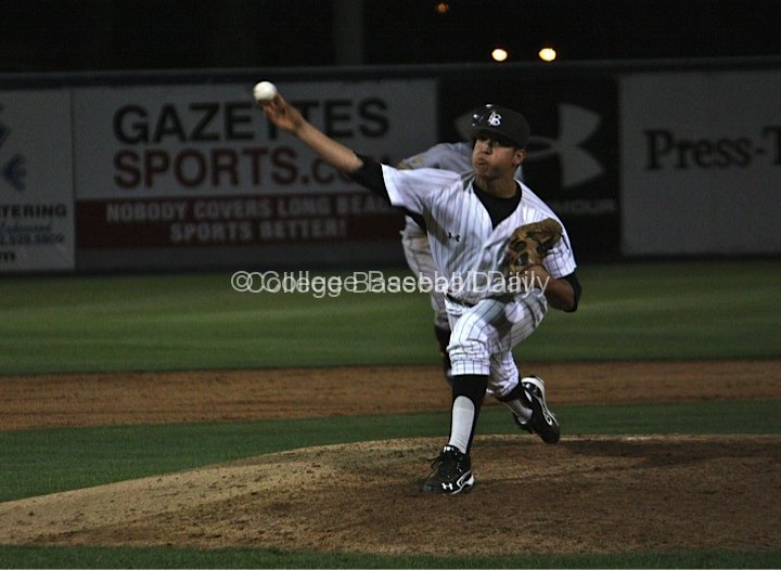 Eddie Magallon delivers a pitch.