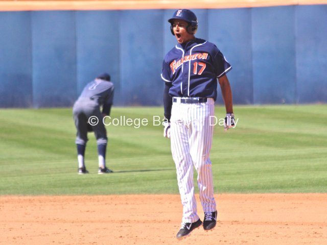Carlos Lopez celebrates his walk-off HR.