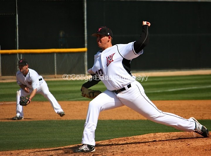 Jerry Keel allowed only two hits in seven innings.