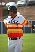 Joe Sever wearing Pepperdine's special 75th anniversary alternate jerseys