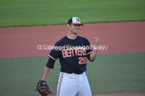Ben Wetzler celebrates the Final Out