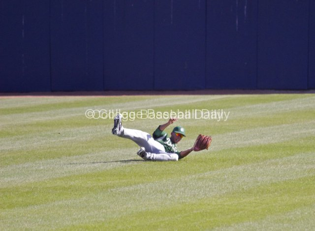 CF Jason Maffei makes a sliding catch.