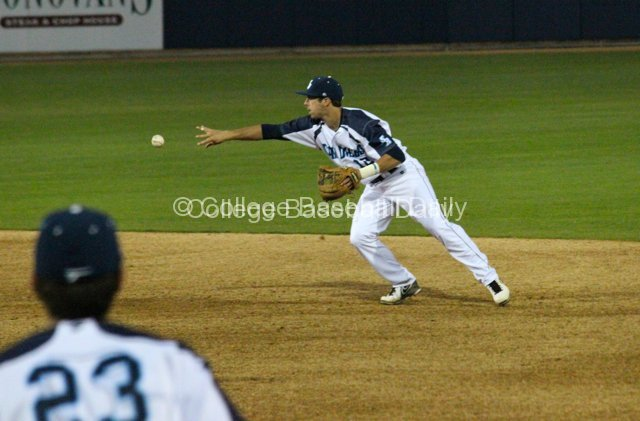 Austin Bailey starts the double play.