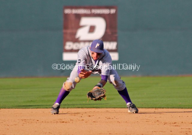 Cody Lenahan fields a grounder.