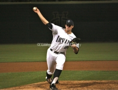 Kyle Hooper throws a changeup.