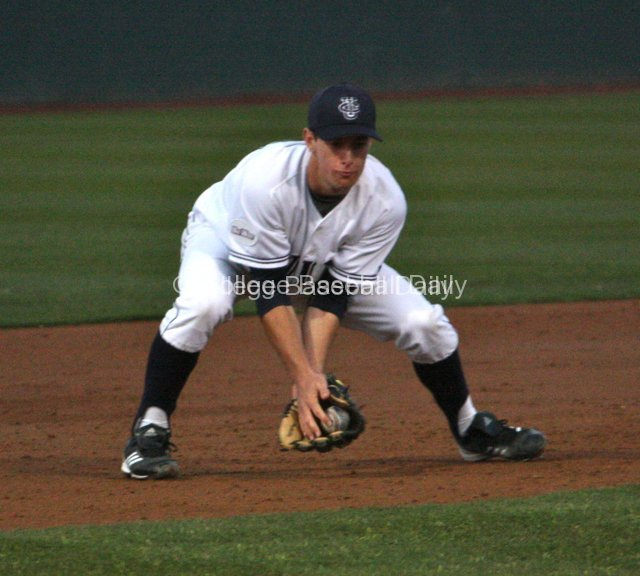 Dillon Moyer fields a grounder.