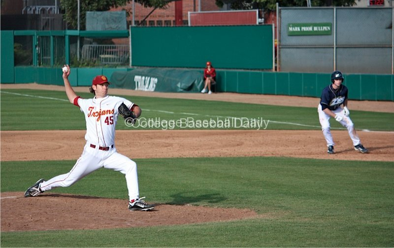 Ben Mount pitches.