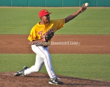 Stephen Tarpley didn't allow a hit until the fifth inning..