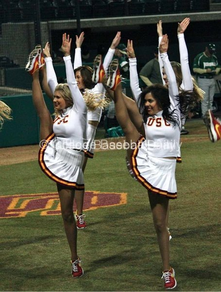 USC Song Girls perform between innings