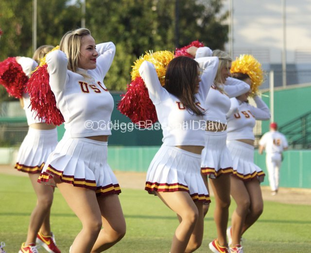Even the Song Girls couldn't cheer USC on to any hits.