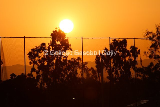 The sun setting on Dedeaux Field & possibly USC's tournament hopes.