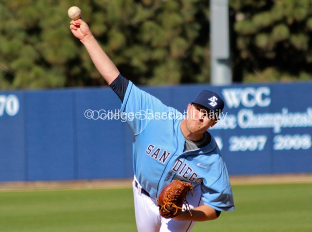 Dylan Covey pitched well for San Diego.