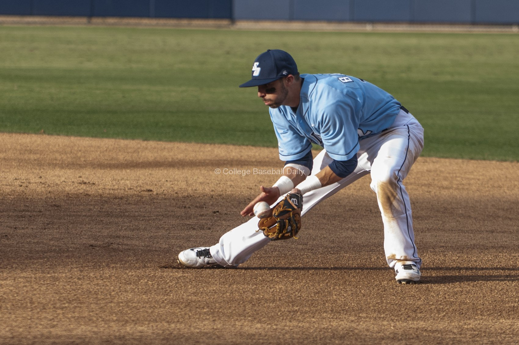 Austin Bailey, takes a grounder