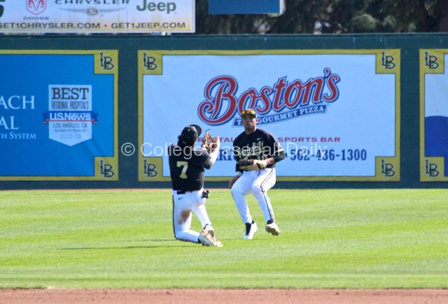 Dansby Swanson makes a great over-the-shoulder catch.