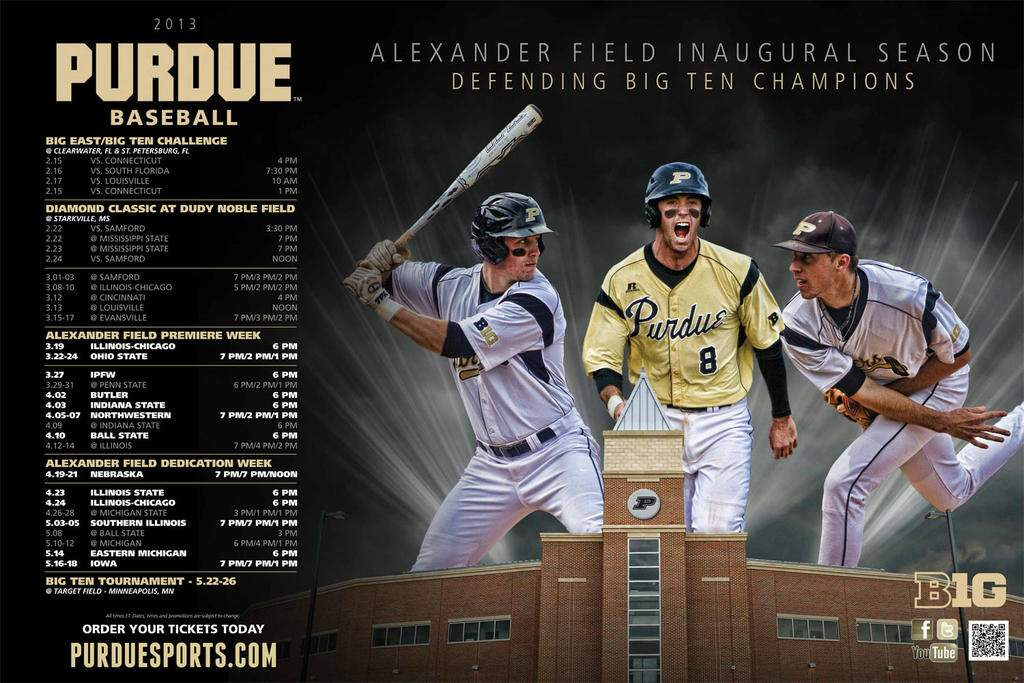 2013PurdueBaseballPoster