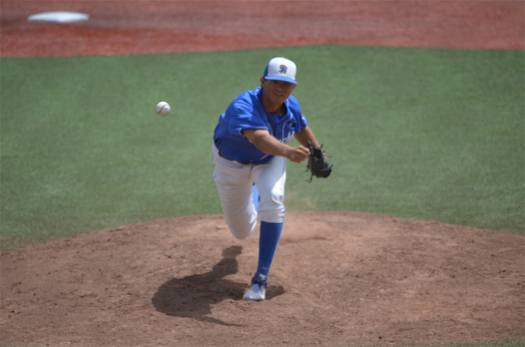 UCSB starter Robby Nesovic allowed five runs in 6 1/3 innings. (photo by Aaron Yost)