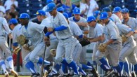 The UCLA Bruins edged LSU 2-1 in the fourth game of the College World Series. Here are some of the best pictures from the game.