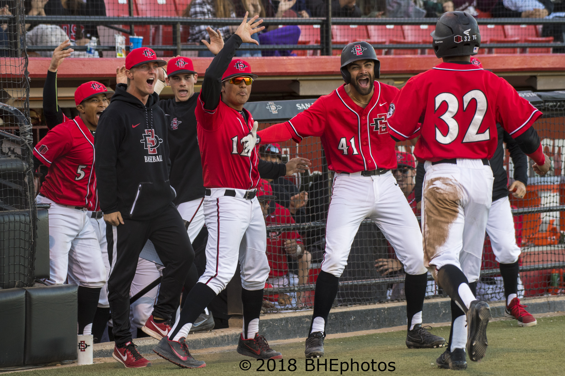 san diego state defeats gcu 5-4 in come from behind fashion at the