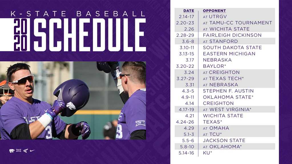 Kansas State Releases 2020 Schedule College Baseball Daily